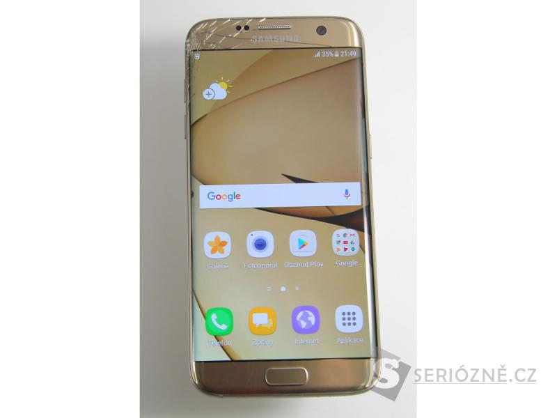 Mobilní telefon Samsung S7 - zlatý