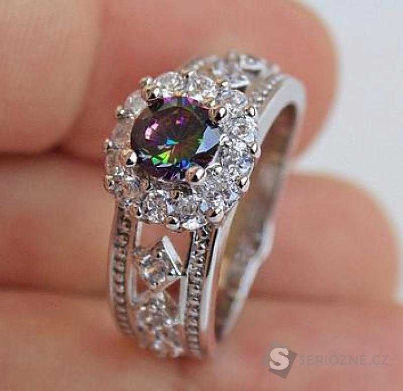 Pozlacený prstýnek