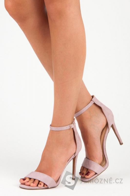 SEASTAR - Nádherné fialové sandály na podpatku