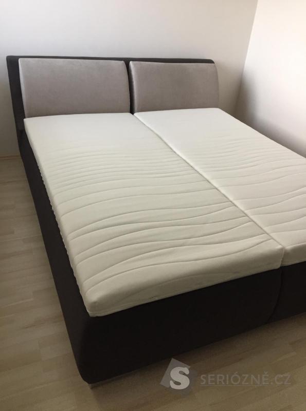 Čalouněná polohovatelná postel