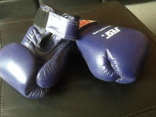 Boxerské rukavice FBT pro Muay Thai, S1, K1 - MODRÉ