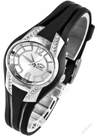 Dámské hodinky, zdobené kamínky, vodotěsnost 100m