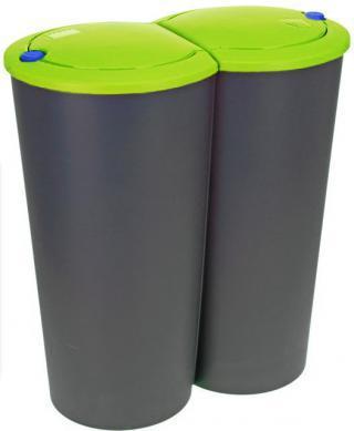 Dvojitý odpadkový koš - 25 l