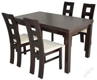 Jídelní sestava, rozkládací stůl 120x80