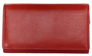 Červená klasická kožená peněženka