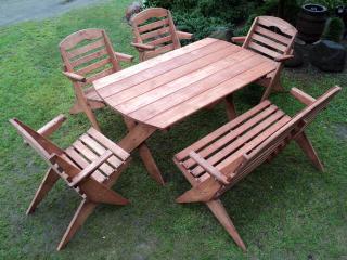 Zahradní nábytek - stůl a židle