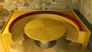 Velký dřevěný set lavice + stůl 2,3 x 3,3m (masiv)