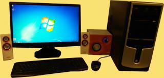 "PC sestava + 22"" monitor + reproduktory"