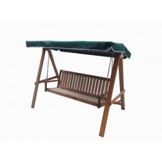 Zahradní luxusní dřevěná houpačka pro 3 osoby