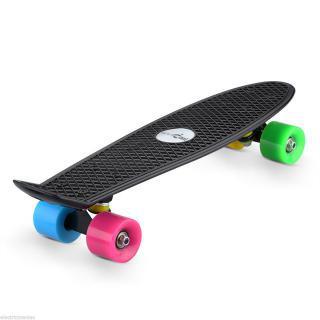 BLACK Retro cruiser penny board skateboard - sklad
