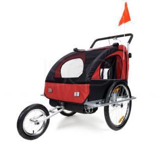 Přívěsný vozík za kolo pro 2 osoby JOGGER - červený