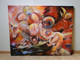 Podivný obraz - Olej - Signováno