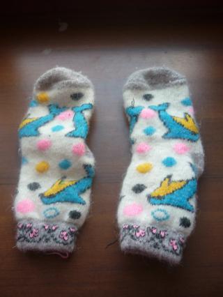 dětské ponožky 100% vlna