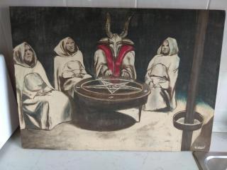 Obraz malovaný Tomášem Kouckým