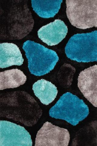 3D koberec černo-modrý