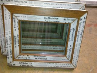 Plastová okna ( plastové okno ) 60x50 - zlatý dub